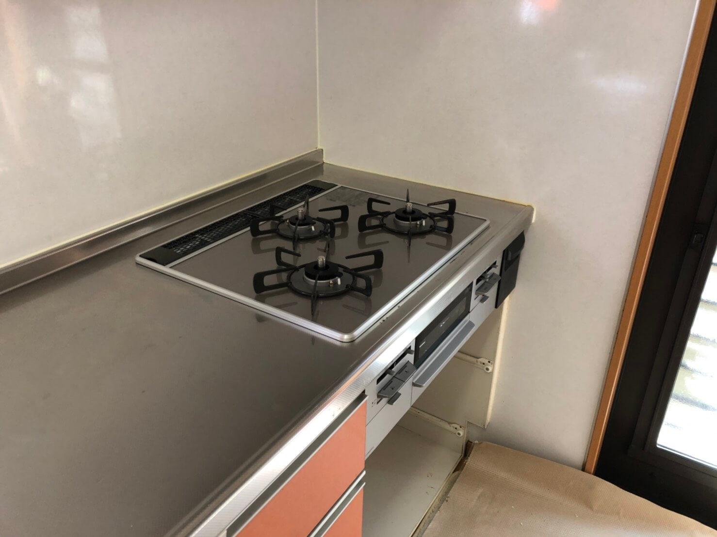 厨房機器取替工事